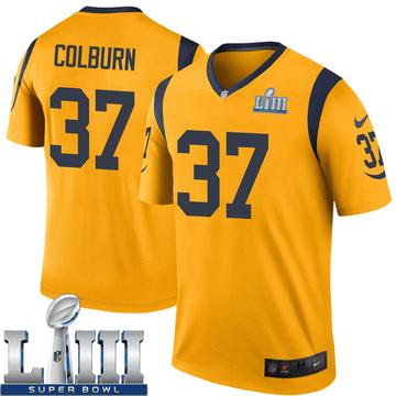 Youth Nike Los Angeles Rams Matt Colburn Gold Color Rush Super Bowl LIII Bound Jersey - Legend