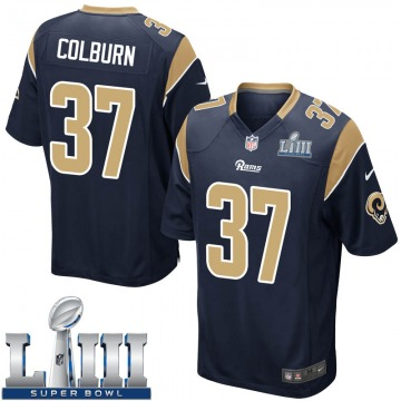 Youth Nike Los Angeles Rams Matt Colburn Navy Team Color Super Bowl LIII Bound Jersey - Game