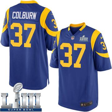 Youth Nike Los Angeles Rams Matt Colburn Royal Alternate Super Bowl LIII Bound Jersey - Game