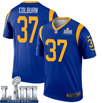 Youth Nike Los Angeles Rams Matt Colburn Royal Super Bowl LIII Bound Jersey - Legend