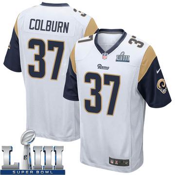 Youth Nike Los Angeles Rams Matt Colburn White Super Bowl LIII Bound Jersey - Game