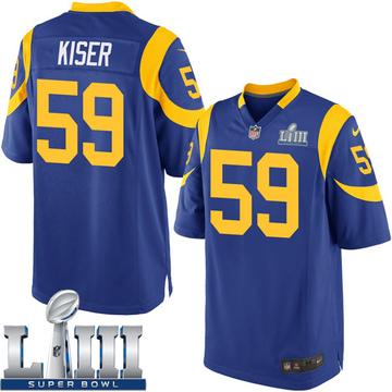 Youth Nike Los Angeles Rams Micah Kiser Royal Alternate Super Bowl LIII Bound Jersey - Game