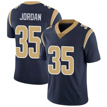Youth Nike Los Angeles Rams Michael Jordan Navy Team Color Vapor Untouchable Jersey - Limited