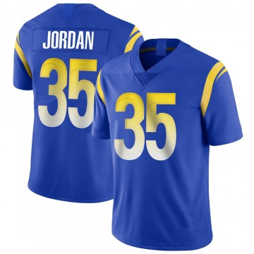 Youth Nike Los Angeles Rams Michael Jordan Royal Alternate Vapor Untouchable Jersey - Limited