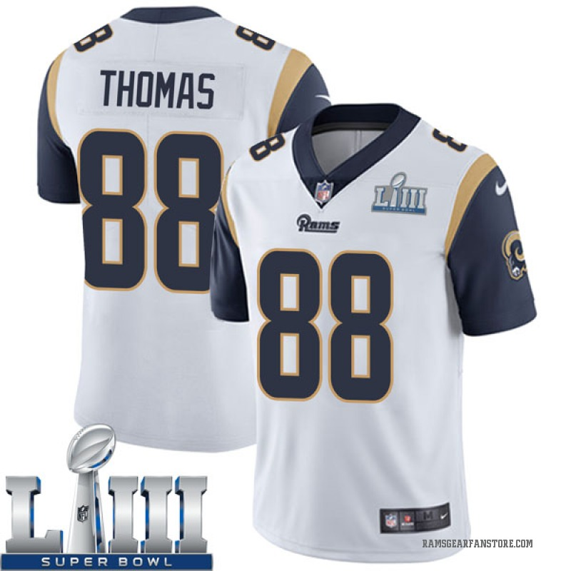 huge discount 4d9ec a3317 Youth Nike Los Angeles Rams Mike Thomas White Super Bowl LIII Bound Vapor  Untouchable Jersey - Limited