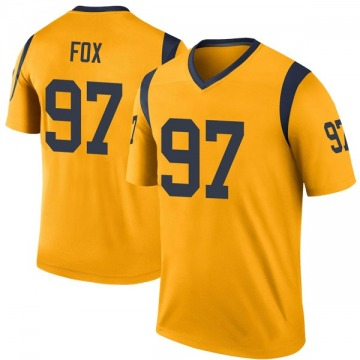 Youth Nike Los Angeles Rams Morgan Fox Gold Color Rush Jersey - Legend