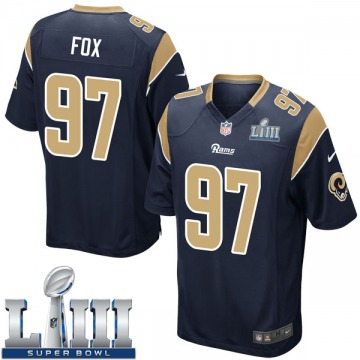 Youth Nike Los Angeles Rams Morgan Fox Navy Team Color Super Bowl LIII Bound Jersey - Game