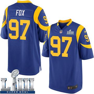 Youth Nike Los Angeles Rams Morgan Fox Royal Alternate Super Bowl LIII Bound Jersey - Game