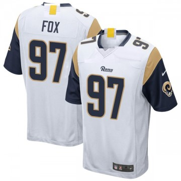 Youth Nike Los Angeles Rams Morgan Fox White Jersey - Game