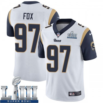 Youth Nike Los Angeles Rams Morgan Fox White Super Bowl LIII Bound Vapor Untouchable Jersey - Limited