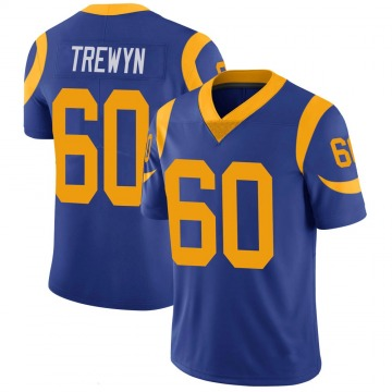 Youth Nike Los Angeles Rams Nate Trewyn Royal 100th Vapor Jersey - Limited