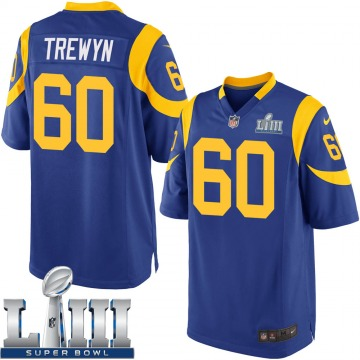 Youth Nike Los Angeles Rams Nate Trewyn Royal Alternate Super Bowl LIII Bound Jersey - Game