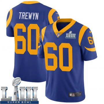 Youth Nike Los Angeles Rams Nate Trewyn Royal Alternate Super Bowl LIII Bound Vapor Untouchable Jersey - Limited