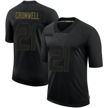 Youth Nike Los Angeles Rams Nolan Cromwell Black 2020 Salute To Service Jersey - Limited
