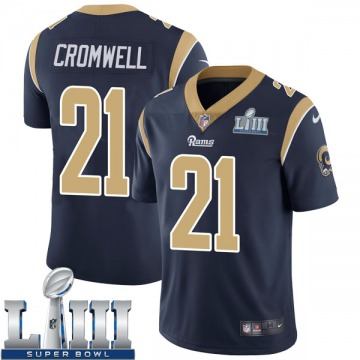 Youth Nike Los Angeles Rams Nolan Cromwell Navy Team Color Super Bowl LIII Bound Vapor Untouchable Jersey - Limited