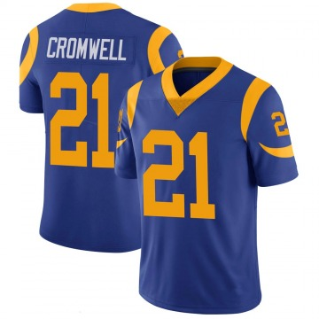 Youth Nike Los Angeles Rams Nolan Cromwell Royal 100th Vapor Jersey - Limited