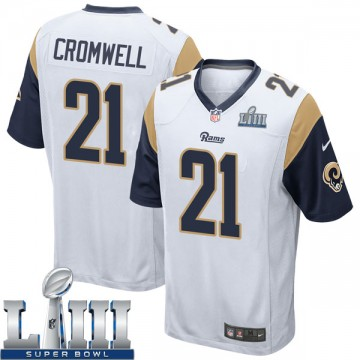 Youth Nike Los Angeles Rams Nolan Cromwell White Super Bowl LIII Bound Jersey - Game