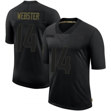 Youth Nike Los Angeles Rams Nsimba Webster Black 2020 Salute To Service Jersey - Limited