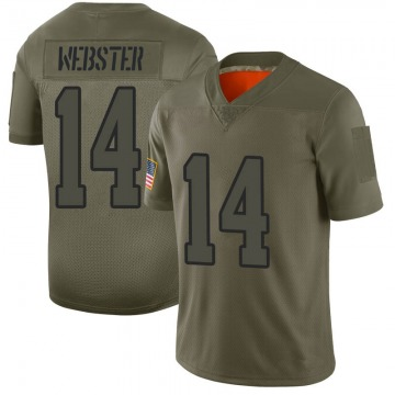 Youth Nike Los Angeles Rams Nsimba Webster Camo 2019 Salute to Service Jersey - Limited
