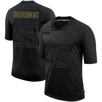 Youth Nike Los Angeles Rams Ogbonnia Okoronkwo Black 2020 Salute To Service Jersey - Limited