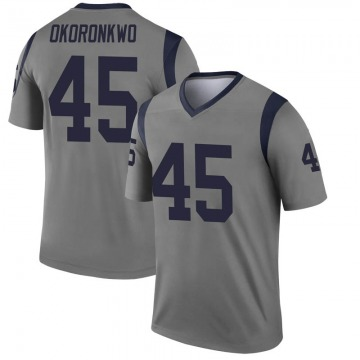Youth Nike Los Angeles Rams Ogbonnia Okoronkwo Gray Inverted Jersey - Legend