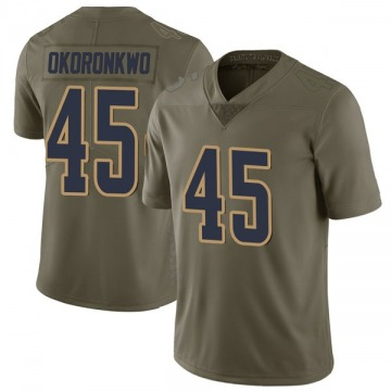 Youth Nike Los Angeles Rams Ogbonnia Okoronkwo Green 2017 Salute to Service Jersey - Limited