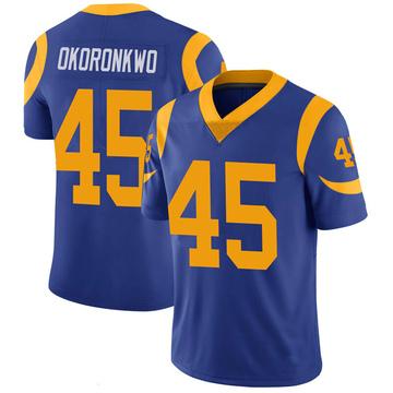 Youth Nike Los Angeles Rams Ogbonnia Okoronkwo Royal 100th Vapor Jersey - Limited