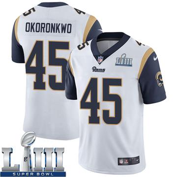 Youth Nike Los Angeles Rams Ogbonnia Okoronkwo White Super Bowl LIII Bound Vapor Untouchable Jersey - Limited