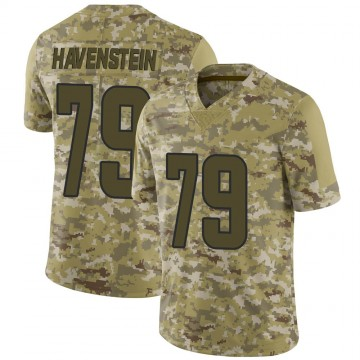 Youth Nike Los Angeles Rams Rob Havenstein Camo 2018 Salute to Service Jersey - Limited