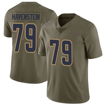 Youth Nike Los Angeles Rams Rob Havenstein Green 2017 Salute to Service Jersey - Limited