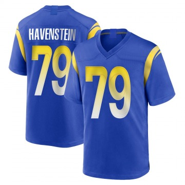 Youth Nike Los Angeles Rams Rob Havenstein Royal Alternate Jersey - Game