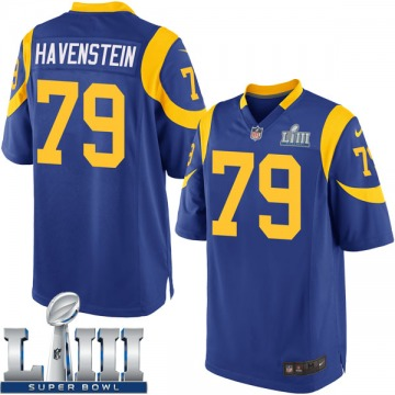Youth Nike Los Angeles Rams Rob Havenstein Royal Alternate Super Bowl LIII Bound Jersey - Game