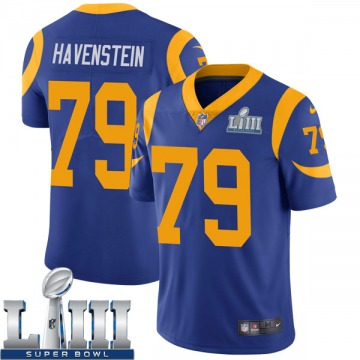 Youth Nike Los Angeles Rams Rob Havenstein Royal Alternate Super Bowl LIII Bound Vapor Untouchable Jersey - Limited