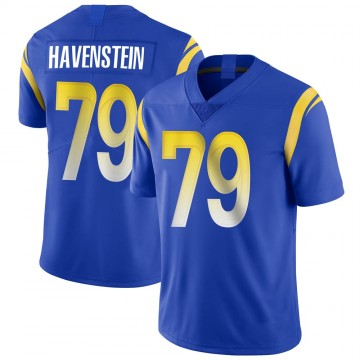 Youth Nike Los Angeles Rams Rob Havenstein Royal Alternate Vapor Untouchable Jersey - Limited