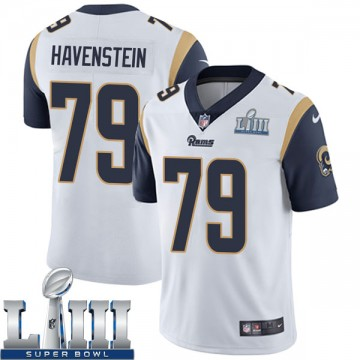 Youth Nike Los Angeles Rams Rob Havenstein White Super Bowl LIII Bound Vapor Untouchable Jersey - Limited