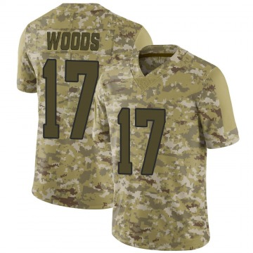 Youth Nike Los Angeles Rams Robert Woods Camo 2018 Salute to Service Jersey - Limited