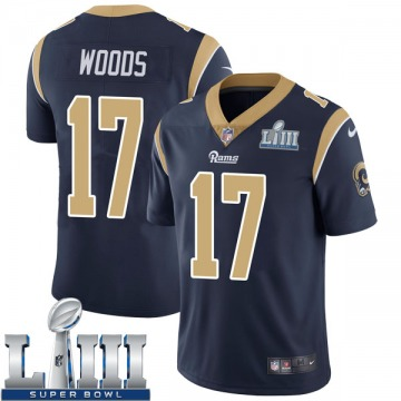 Youth Nike Los Angeles Rams Robert Woods Navy Team Color Super Bowl LIII Bound Vapor Untouchable Jersey - Limited