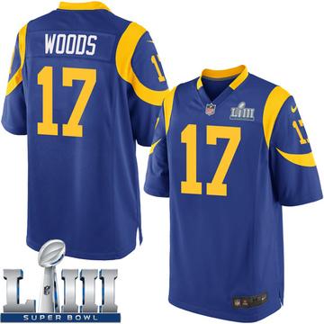 Youth Nike Los Angeles Rams Robert Woods Royal Alternate Super Bowl LIII Bound Jersey - Game