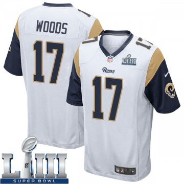 Youth Nike Los Angeles Rams Robert Woods White Super Bowl LIII Bound Jersey - Game
