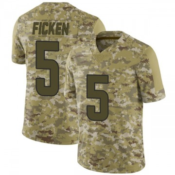 Youth Nike Los Angeles Rams Sam Ficken Camo 2018 Salute to Service Jersey - Limited