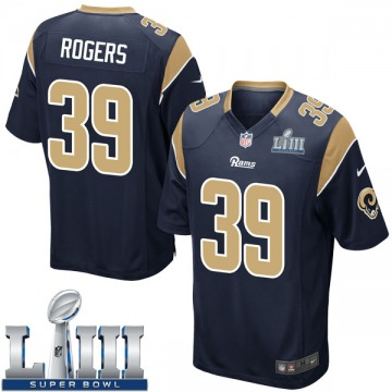 Youth Nike Los Angeles Rams Sam Rogers Navy Team Color Super Bowl LIII Bound Jersey - Game