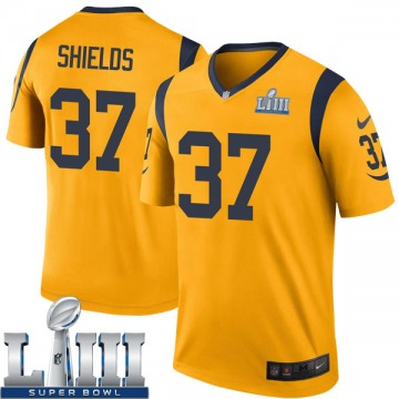 Youth Nike Los Angeles Rams Sam Shields Gold Color Rush Super Bowl LIII Bound Jersey - Legend