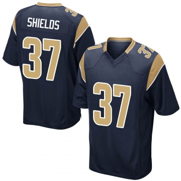 Youth Nike Los Angeles Rams Sam Shields Navy Team Color Jersey - Game