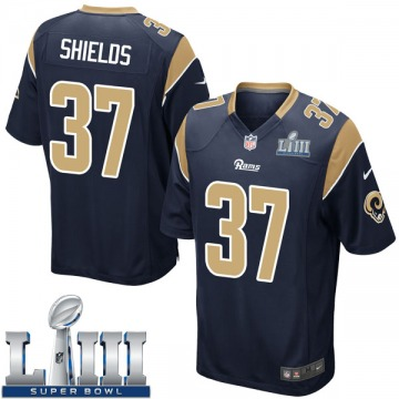 Youth Nike Los Angeles Rams Sam Shields Navy Team Color Super Bowl LIII Bound Jersey - Game