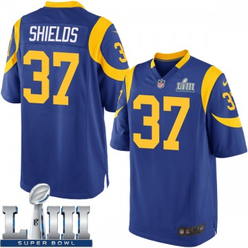 Youth Nike Los Angeles Rams Sam Shields Royal Alternate Super Bowl LIII Bound Jersey - Game