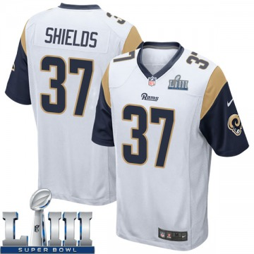 Youth Nike Los Angeles Rams Sam Shields White Super Bowl LIII Bound Jersey - Game