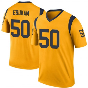 Youth Nike Los Angeles Rams Samson Ebukam Gold Color Rush Jersey - Legend