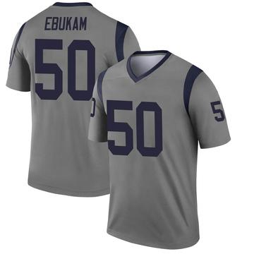 Youth Nike Los Angeles Rams Samson Ebukam Gray Inverted Jersey - Legend