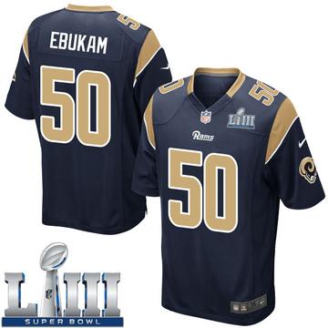 Youth Nike Los Angeles Rams Samson Ebukam Navy Team Color Super Bowl LIII Bound Jersey - Game