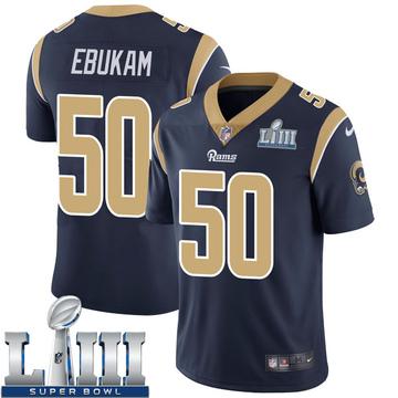 Youth Nike Los Angeles Rams Samson Ebukam Navy Team Color Super Bowl LIII Bound Vapor Untouchable Jersey - Limited